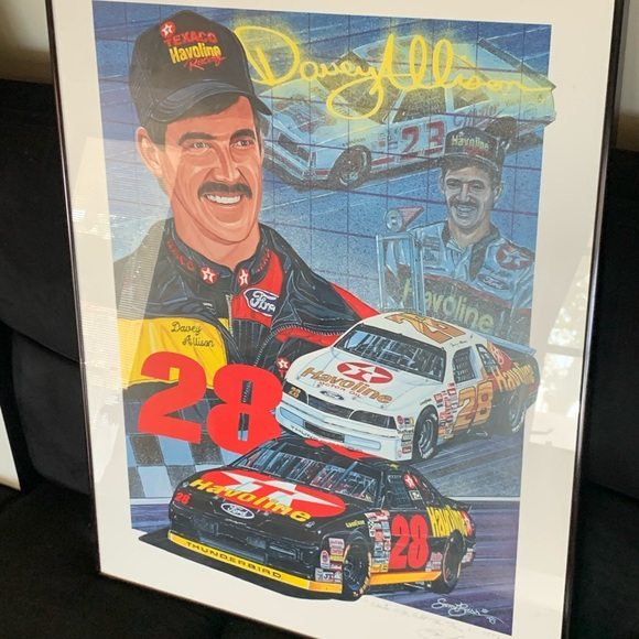 Davey Allison rare framed photo